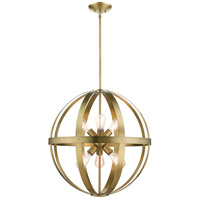 Livex 49646-01 Stoneridge 6 Light 24 inch Antique Brass Pendant Chandelier Ceiling Light