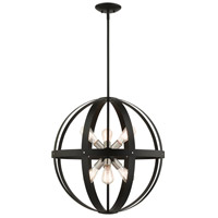 Livex Lighting 49646-14 Stoneridge 6 Light 24 inch Textured Black Pendant Chandelier Ceiling Light