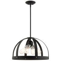 Livex Lighting 49647-14 Stoneridge 4 Light 20 inch Textured Black Pendant Chandelier Ceiling Light