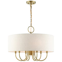 Livex 49806-01 Blossom 7 Light 24 inch Antique Brass Pendant Chandelier Ceiling Light