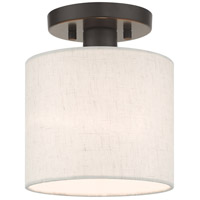Livex 49807-92 Meadow 1 Light 7 inch English Bronze Semi Flush Ceiling Light