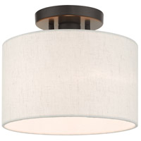 Livex 49808-92 Meadow 1 Light 10 inch English Bronze Semi Flush Ceiling Light