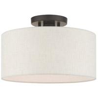 Livex 49809-92 Meadow 1 Light 13 inch English Bronze Semi Flush Ceiling Light