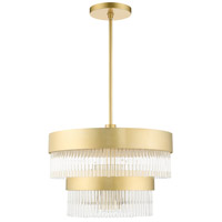 Livex 49824-33 Norwich 5 Light 20 inch Soft Gold Chandelier Ceiling Light