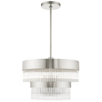 Livex Brushed Nickel Steel Norwich Chandeliers