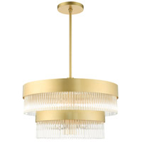 Livex 49825-33 Norwich 7 Light 24 inch Soft Gold Chandelier Ceiling Light