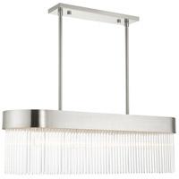Livex 49826-91 Norwich 4 Light 12 inch Brushed Nickel Chandelier Ceiling Light