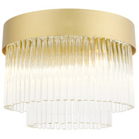 Livex 49827-33 Norwich 4 Light 13 inch Soft Gold Flush Mount Ceiling Light