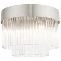 Livex 49827-91 Norwich 4 Light 13 inch Brushed Nickel Flush Mount Ceiling Light