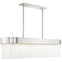 Livex 49830-91 Norwich 6 Light 12 inch Brushed Nickel Chandelier Ceiling Light