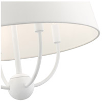 Livex 49844-03 Ridgecrest 4 Light 18 inch White Pendant Chandelier Ceiling Light alternative photo thumbnail