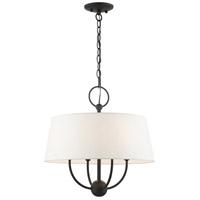 Livex 49844-04 Ridgecrest 4 Light 18 inch Black Pendant Chandelier Ceiling Light