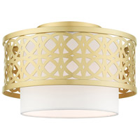 Livex 49862-33 Calinda 1 Light 12 inch Soft Gold Semi Flush Ceiling Light