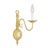 Livex Lighting Williamsburg 1 Light Wall Sconce in Polished Brass 5001-02 photo thumbnail