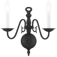 Livex 5002-04 Williamsburg 2 Light 13 inch Black Sconce Wall Light