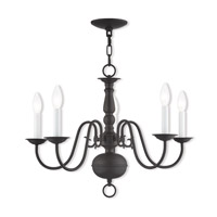 Livex 5005-07 Williamsburgh 5 Light 24 inch Bronze Chandelier Ceiling Light