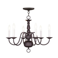 Livex 5006-07 Williamsburgh 6 Light 24 inch Bronze Chandelier Ceiling Light