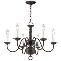 Livex 5006-07 Williamsburgh 6 Light 24 inch Bronze Chandelier Ceiling Light alternative photo thumbnail