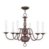 Livex Lighting Williamsburg 6 Light Chandelier in Imperial Bronze 5006-58
