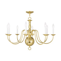 Livex Lighting Williamsburg 8 Light Chandelier in Polished Brass 5007-02