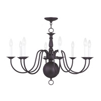 Livex Lighting Williamsburg 8 Light Chandelier in Bronze 5007-07