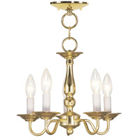 Livex 5011-02 Williamsburgh 5 Light 13 inch Polished Brass Pendant/Ceiling Mount Ceiling Light