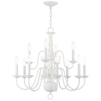 Livex 5012-03 Williamsburg 12 Light 26 inch White Chandelier Ceiling Light