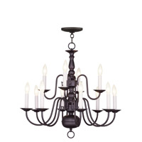 Livex Lighting Williamsburgh 12 Light Chandelier in Bronze 5012-07