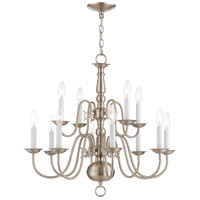 Williamsburgh 12 Light 26 inch Brushed Nickel Chandelier Ceiling Light