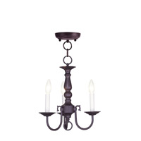Livex Lighting Williamsburgh 3 Light Mini Chandelier in Bronze 5013-07