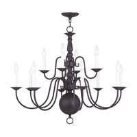 Livex Lighting Williamsburgh 12 Light Chandelier in Bronze 5014-07