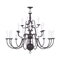 Livex Lighting Williamsburgh 22 Light Chandelier in Bronze 5015-07