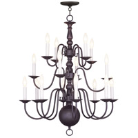Livex Lighting Williamsburg 16 Light Chandelier in Bronze 5016-07