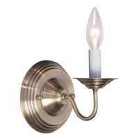 Livex Lighting Williamsburg 1 Light Wall Sconce in Antique Brass 5017-01