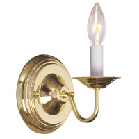 Livex Lighting Williamsburg 1 Light Wall Sconce in Polished Brass 5017-02