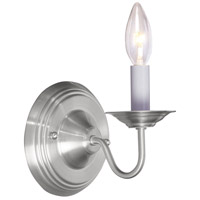 Livex Lighting Williamsburg 1 Light Wall Sconce in Brushed Nickel 5017-91