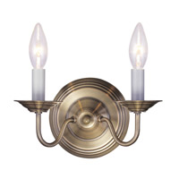 Livex 5018-01 Williamsburgh 2 Light 10 inch Antique Brass Wall Sconce Wall Light