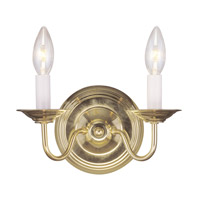 Livex 5018-02 Williamsburgh 2 Light 10 inch Polished Brass Wall Sconce Wall Light