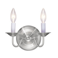 Livex Lighting Williamsburg 2 Light Wall Sconce in Brushed Nickel 5018-91