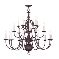 Livex Lighting Williamsburg 20 Light Chandelier in Bronze 5019-07