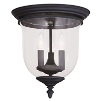 Livex 5021-04 Legacy 3 Light 12 inch Black Ceiling Mount Ceiling Light in Clear photo thumbnail