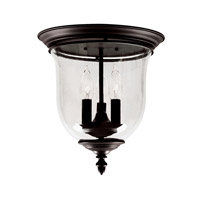 Legacy 3 Light 12 inch Bronze Ceiling Mount Ceiling Light in Clear