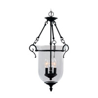 Livex 5022-07 Legacy 3 Light 15 inch Bronze Pendant Ceiling Light in Clear