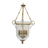Livex Lighting Legacy 6 Light Pendant in Flemish Brass 5023-22