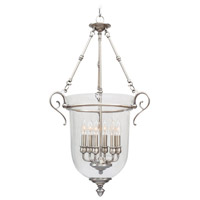 Livex 5023-91 Legacy 6 Light 20 inch Brushed Nickel Pendant Ceiling Light