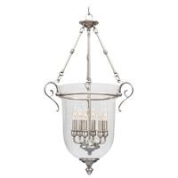 Livex 5023-91 Legacy 6 Light 20 inch Brushed Nickel Pendant Ceiling Light