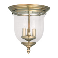 Livex Lighting Legacy 3 Light Ceiling Mount in Antique Brass 5024-01