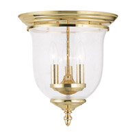 Livex Lighting Legacy 3 Light Ceiling Mount in Polished Brass 5024-02