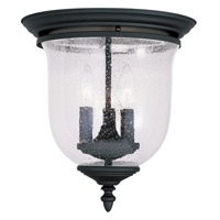 Livex Lighting Legacy 3 Light Ceiling Mount in Black 5024-04