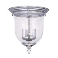 Livex Lighting Legacy 3 Light Ceiling Mount in Chrome 5024-05